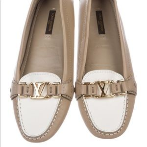 Louis Vuitton Two Tone Leather Loafers